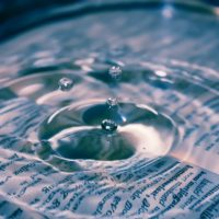Water on Book