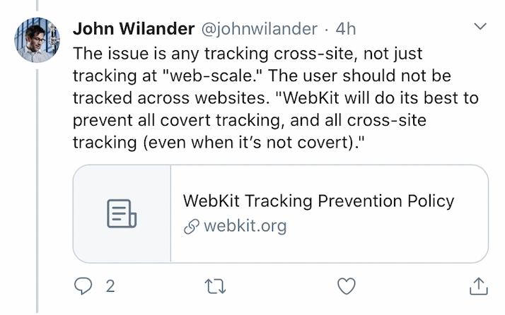 John Wilander Tweet